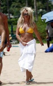 Britney Spears sexy yellow bikini in Hawaii