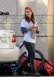 Eliza Dushku *thong slip* while working in her car in LA  11/14/09 x11 HQ