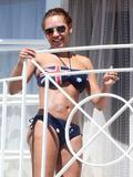 Melanie Brown | Bikini Candids on a Balcony in LA | June 24 | 20 pics